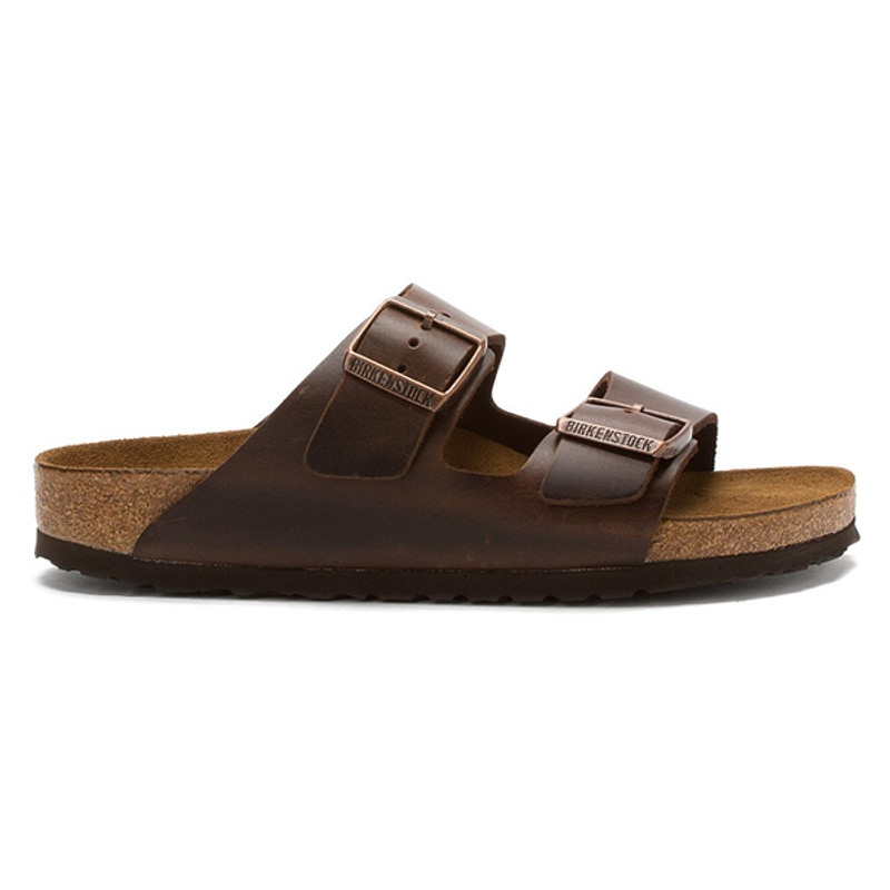 Birkenstock Arizona Soft Footbed Brown Amalfi Leather (Regular Width)