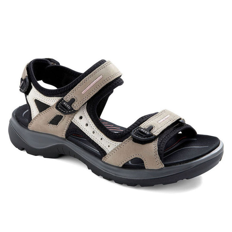 ECCO Women's Yucatan Sandal - Atmosphere / Ice White / Black - 69563-54695 - Angle