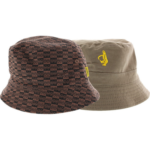KROOKED CHECKERED EYES REVERSIBLE BUCKET HAT - Outerlimitz 4ce798479bd