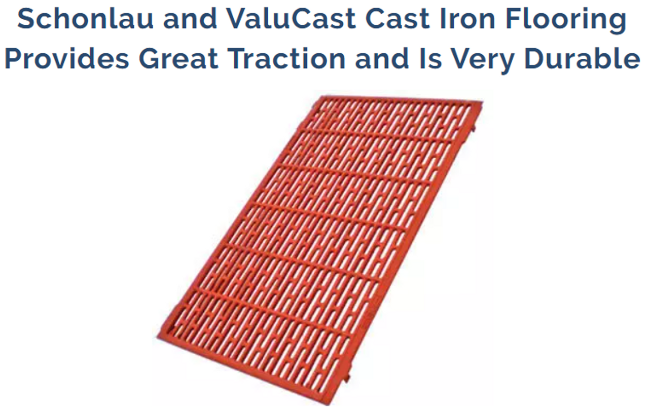 Schonlau Cast Iron Flooring