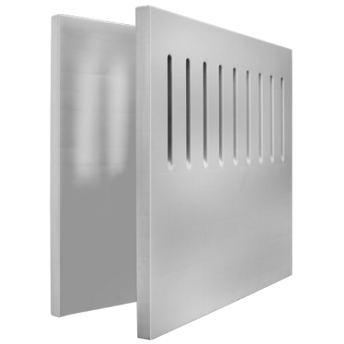 """Dividing Panel (Solid, Ventilated, Custom) 39.5"""" Height"""
