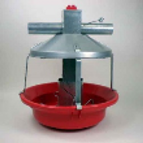 Model ATF Red Feeder w/Non-Swing Down Plastic Pan and Cone