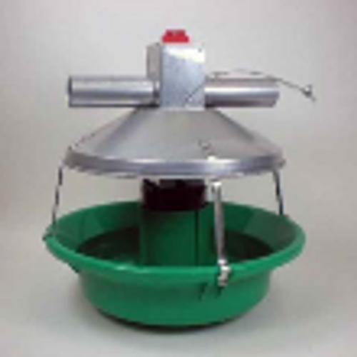 Model ATF Green Feeder w/Swing Down Plastic Pan and Feed Level Cone
