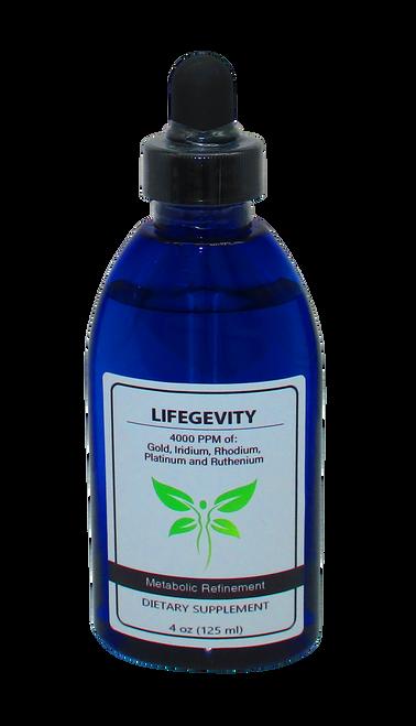 LifeGevity: Gold, Iridium, Platinum, Rhodium & Ruthenium 4 Oz (125 ml).
