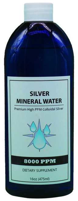 8000 PPM Colloidal Silver 16 Oz