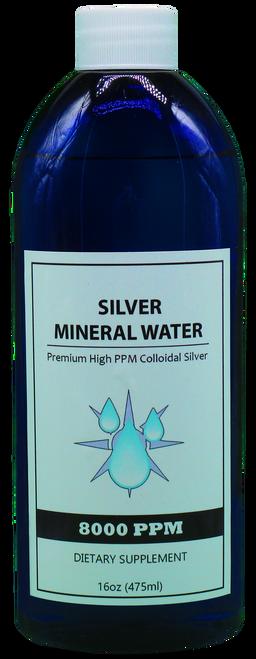 8000 PPM Colloidal Silver 16 Oz
