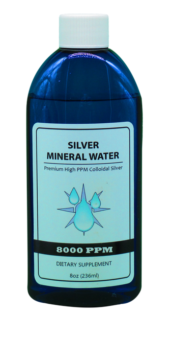 8000 PPM Colloidal Silver 8 Oz
