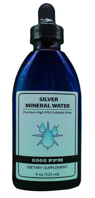 8000 PPM Colloidal Silver 4 Oz