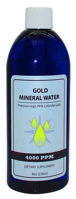 Colloidal Monatomic Gold 4000 PPM 8 Fluid Oz. (236 ml) Bottle