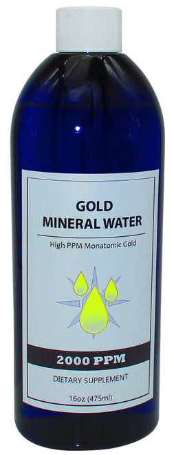 Colloidal Monatomic Gold 2000 PPM  16 Oz Bottle