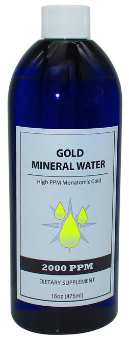 Colloidal Monatomic Gold 2000 PPM  16 Oz Bottle