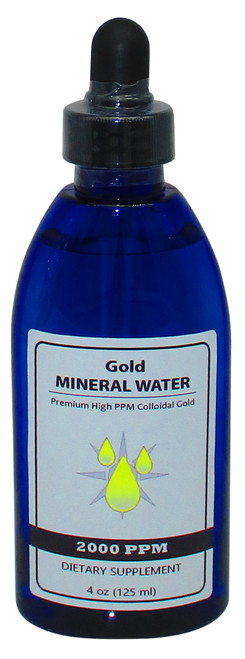 Colloidal Monatomic Gold 2000 PPM 4 Oz Bottle with Dropper