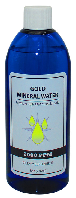 Colloidal Monatomic Gold 2000 PPM 8 Fluid Oz. (236 ml) Bottle