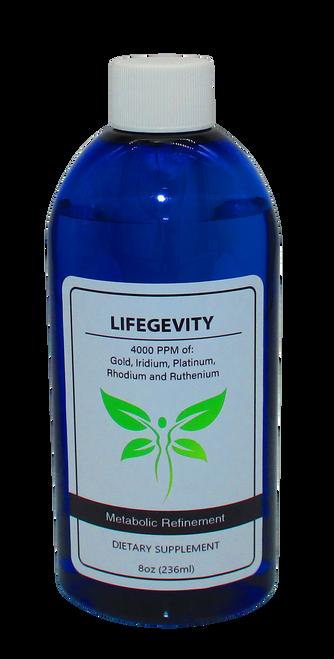 LifeGevity: Colloidal Gold, Iridium, Platinum, Rhodium & Ruthenium 8 Oz Bottle