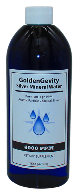 4000 PPM Colloidal Silver 16 Oz Bottle