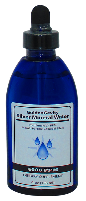 4000 PPM Colloidal Silver 4 Oz Bottle