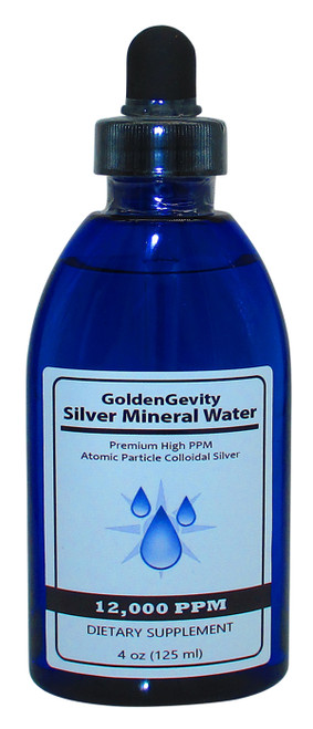 12,000 PPM Colloidal Silver 4 Oz Bottle