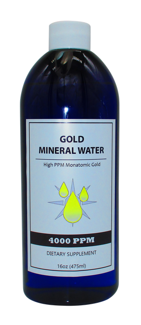 Colloidal Monatomic Gold  4000 PPM  16 Oz Bottle