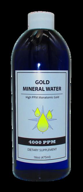 Colloidal Monatomic Gold  4000 PPM  16 Oz Bottle