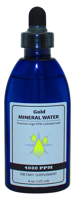 Colloidal Monatomic Gold 4000 PPM 4 Oz Bottle with Dropper