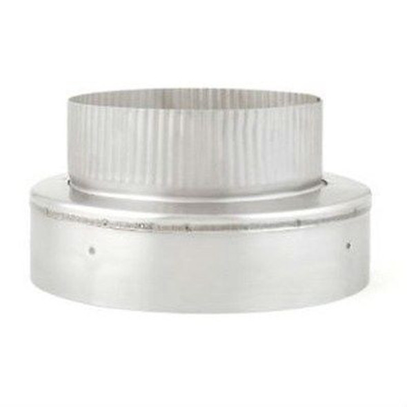 "HF4433SS HEAT FAB SAF-T LINER 3"" x 4"" NO CRIMP REDUCER/INCREASER 304 STAINLESS STEEL"