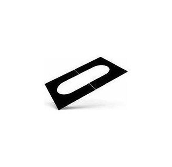 """8T-PCPAJ Selkirk Metal Best Ultra Temp Adjustable Pitched Ceiling Plate in 8"""" Black"""