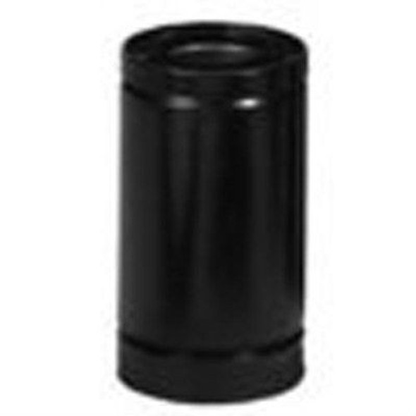 "4DT-24B METALBEST DIRECT TEMP 4"" x 6 5/8"" DIRECT VENT PIPE - BLACK - 12"" length"