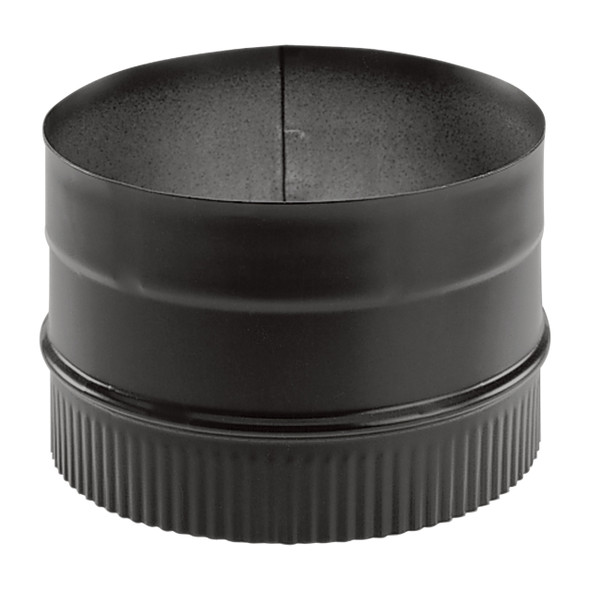 "Duravent DuraBlack 24-ga Welded Black 6"" Stovepipe Adaptor 6DBK-AD"