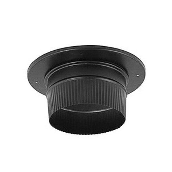 "DuraVent DuraBlack Stovepipe 7"" Snap-Lock Adaptor with Trim 7DBK-ADSL"