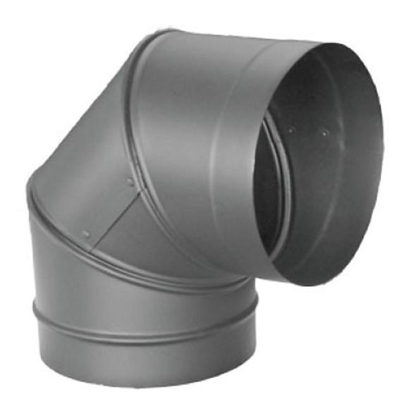 "DuraVent Dura-black 24-ga Welded Black 7"" Stovepipe 90 Degree Elbow 7DBK-E90"