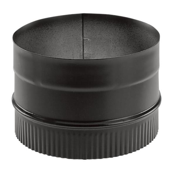 "Duravent DuraBlack 24-ga Welded Black 7"" Stovepipe Adaptor 7DBK-AD"