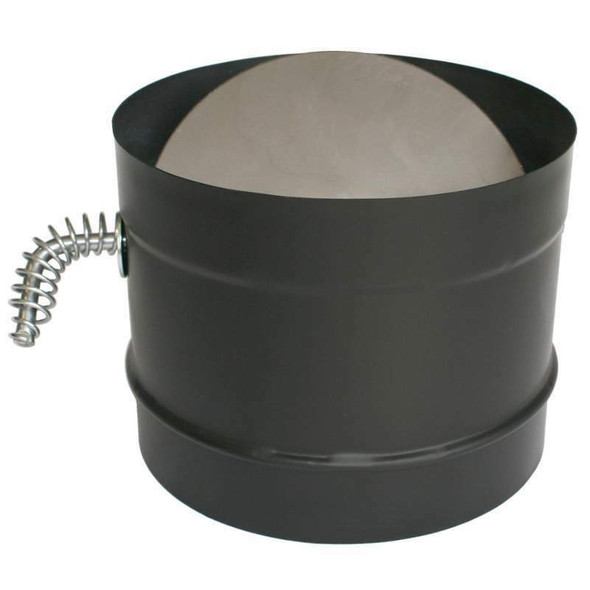 """DuraVent DuraBlack 8"""" Stovepipe Adaptor with Damper Section 8DBK-DS"""