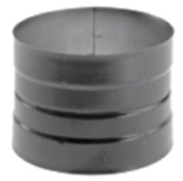 """DuraVent DuraBlack Black Stovepipe 8"""" Stovetop Adaptor Double Skirted 8DBK-ADDB"""