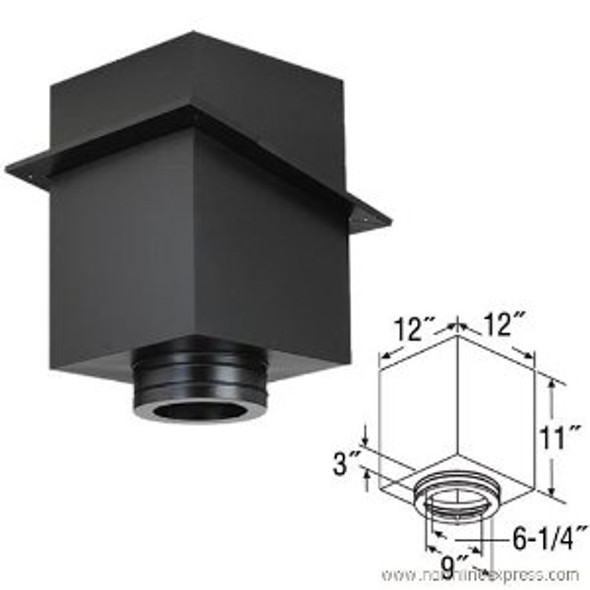 "6"" DuraVent DuraTech 11"" Square Ceiling Support 6DT-CS11"