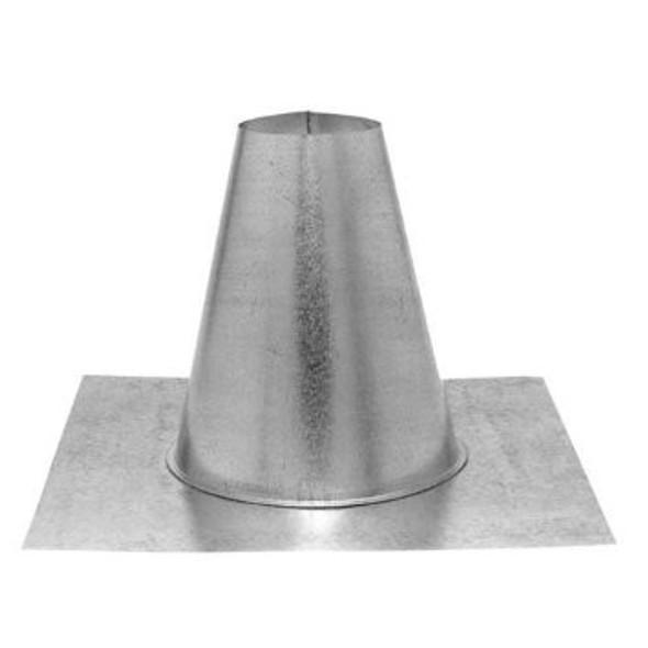 "4GVFF M & G DuraVent Type B Gas Vent Tall Cone Flat Flashing 4"" Diameter"