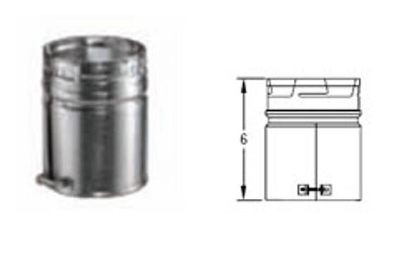 "6GVAM M & G DuraVent Type B Gas Vent Male Adapter 6"" Diameter"