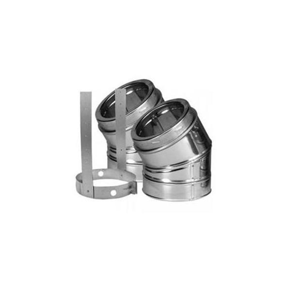 """7"""" DuraVent DuraTech 30 Deg Stainless Steel Elbow Kit 7DT-E30KSS"""