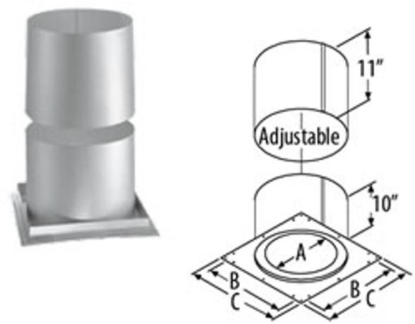 "7"" DuraVent DuraTech Firestop Radiation Shield 7DT-FRS"