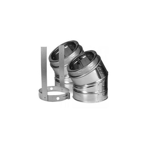 "8"" DuraVent DuraTech 30 Deg Stainless Steel Elbow Kit 8DT-E30KSS"