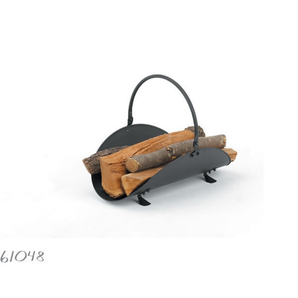 "61046 Woodfield Polished Brass/black Wood Basket, 21""l"