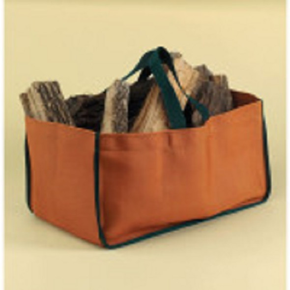 71290 Minuteman Weathered Pumpkin Closed-end Log Tote, Nylon Duck