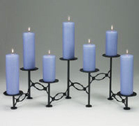 25320 Accordian Candelabra, Candles Not Included, No Cup Pins