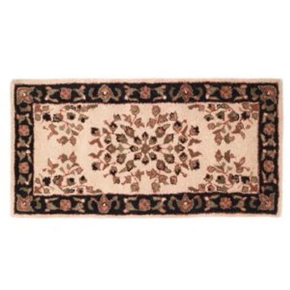 "61152 Woodfield Beige Oriental Rectangular Rug, Wool, 22"" X 44"""
