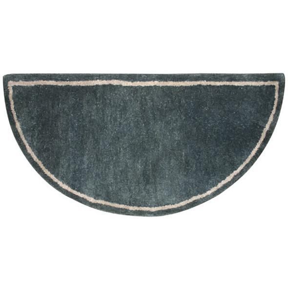 "61148 Woodfield Green W/border Contemporary Half-round Rug, Wool 22"" X 44"""
