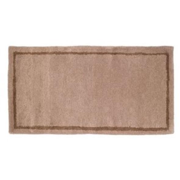 "61150 Woodfield Beige W/border Contemporary Rectangular Rug, Wool 22"" X 44"""