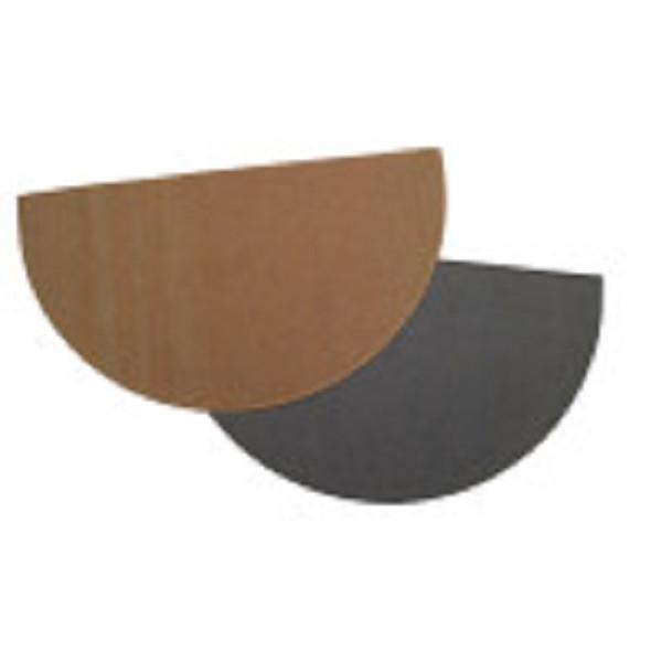 "47150 Charcoal Half Round Hearth Rug, 27"" x 48"", 100% Fiberglass"