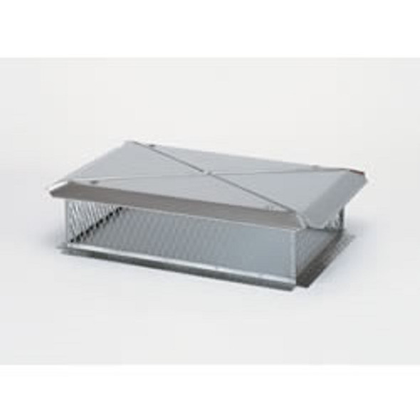 "11726 13"" x 36"" Gelco Stainless Steel Multi-Flue Cap, 3/4"" Mesh"