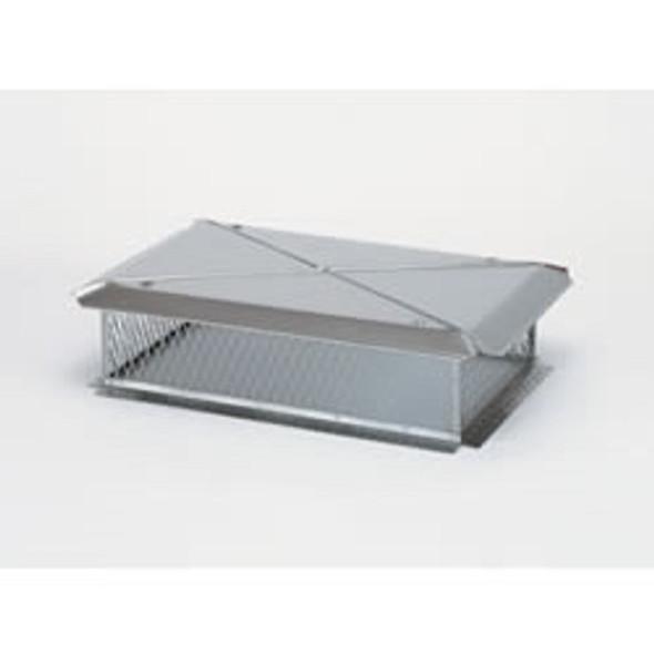 "11750 17"" x 35"" Gelco Stainless Steel Multi-Flue Cap, 3/4"" Mesh"
