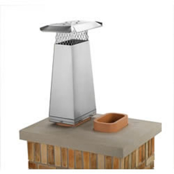"""13134 13"""" x 13"""" Gelco Stainless Steel Flue Stretcher, Adds 2' Height"""