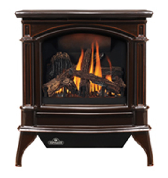 NAPOLEON GDS60-1NNSB Cast Iron Direct Vent Gas Stove - Porcelain Majolica Brown